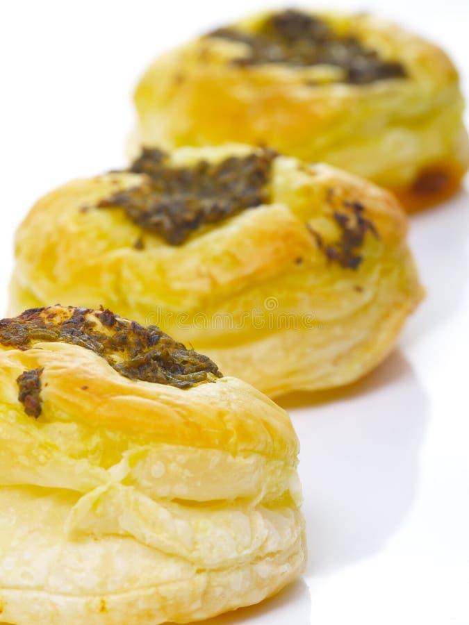 Soplos de los pasteles de Pesto imagen de archivo libre de regalías