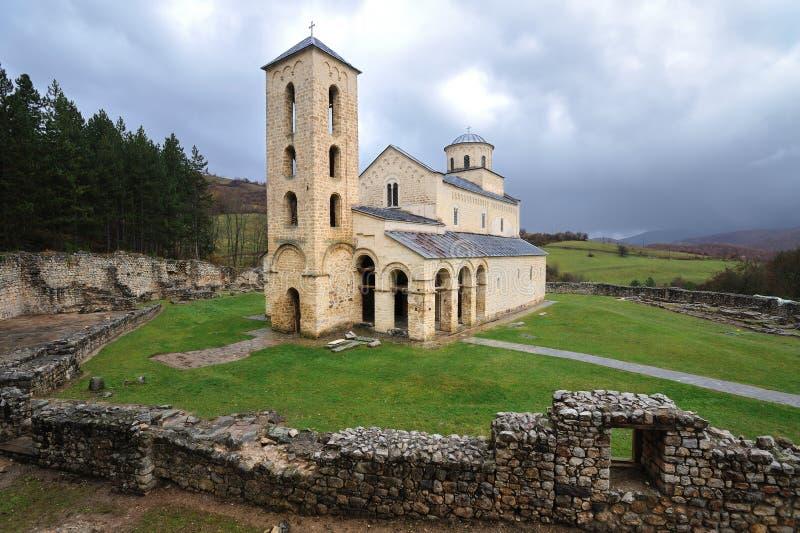 Sopocani monastery, Serbia royalty free stock photography