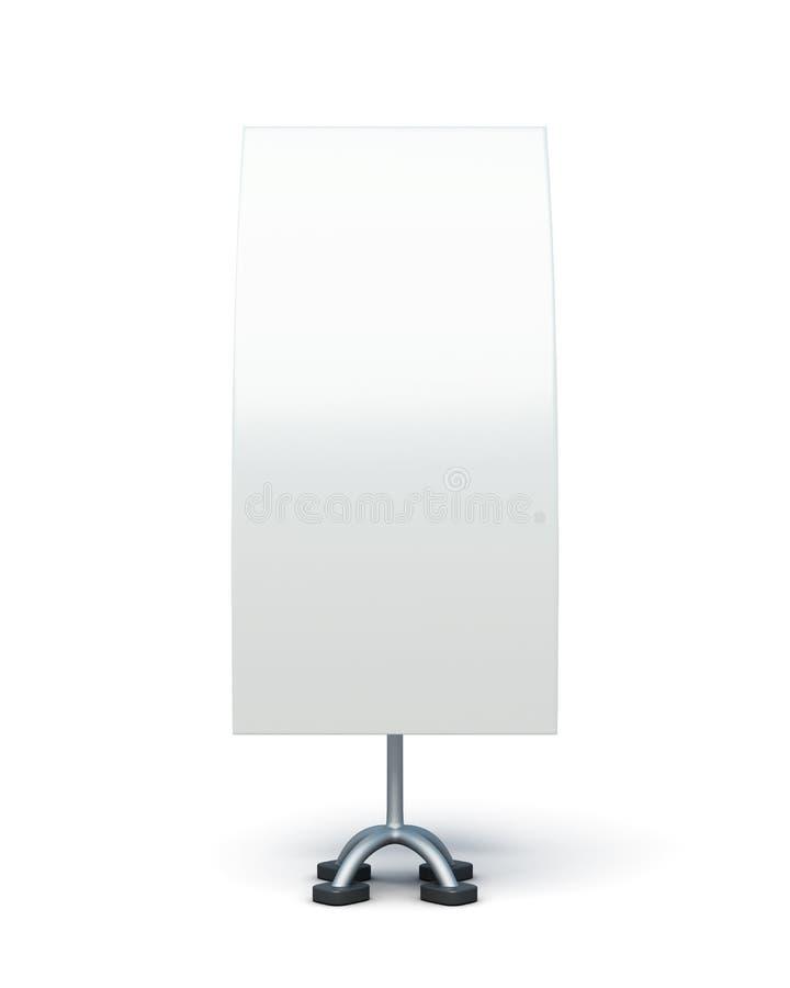 Soporte bilateral de la publicidad en un fondo blanco 3D r libre illustration