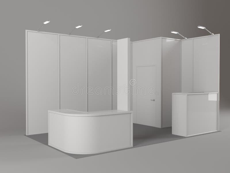 Soporte comercial de la exposición, ronda de la exposición, 3D que rinde la visualización del equipo de la exposición, espacio en libre illustration