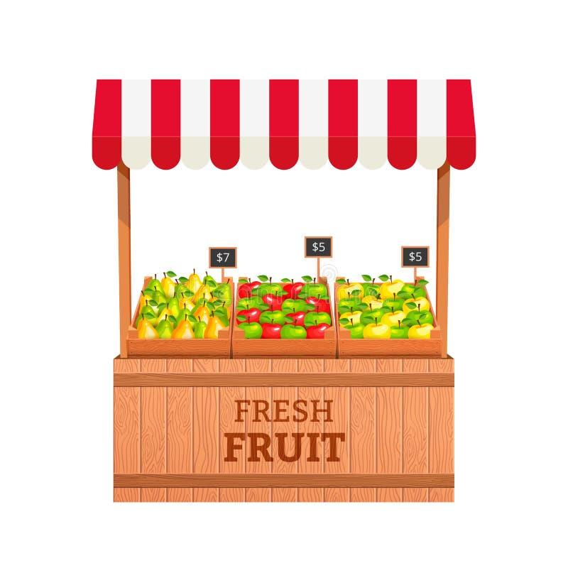 Soporte de fruta stock de ilustración