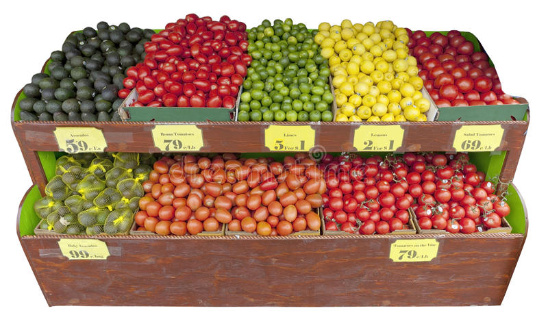 Soporte de fruta y verdura fotografía de archivo