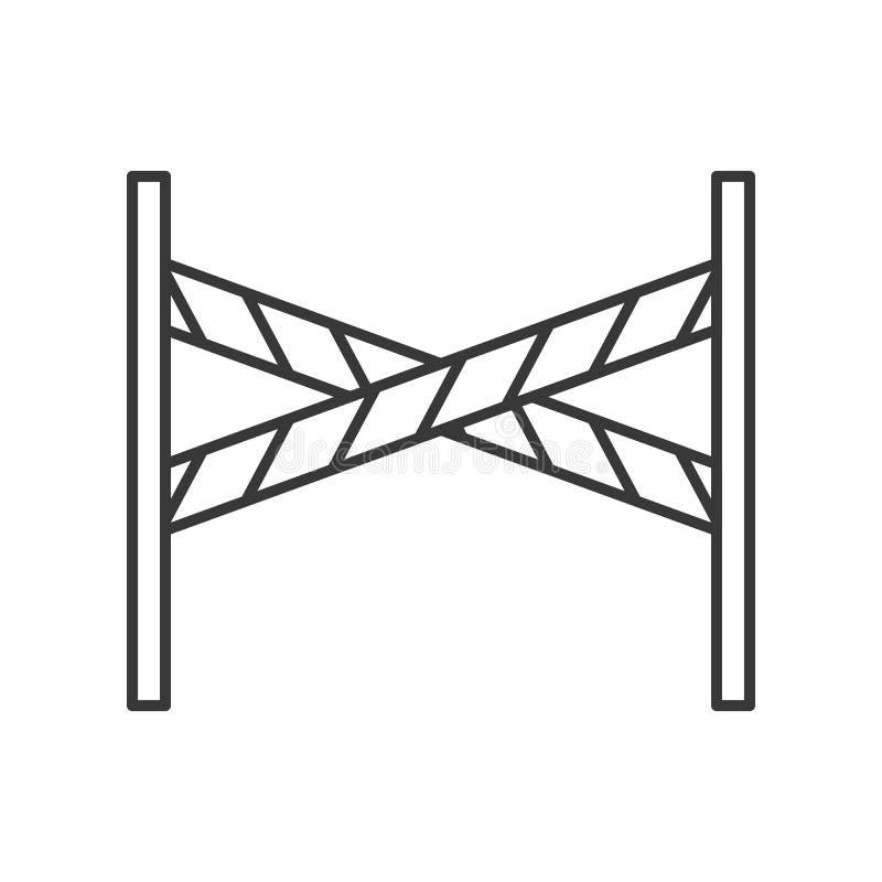 Soporte de la barrera, movimiento editable del icono relacionado de la policía stock de ilustración