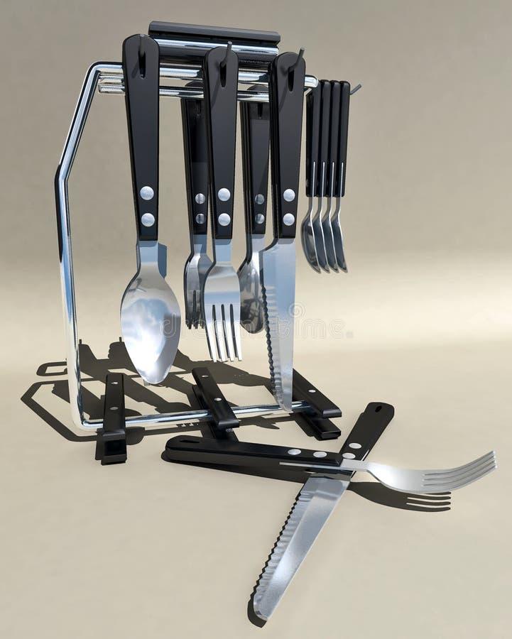 Soporte de la cuchillería foto de archivo libre de regalías