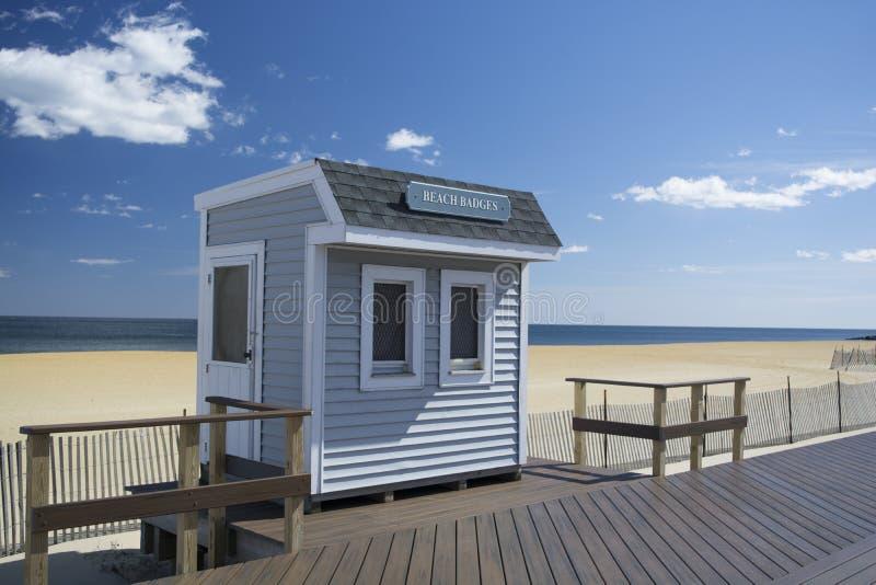 Soporte de la insignia de la playa de Belmar NJ fotos de archivo libres de regalías