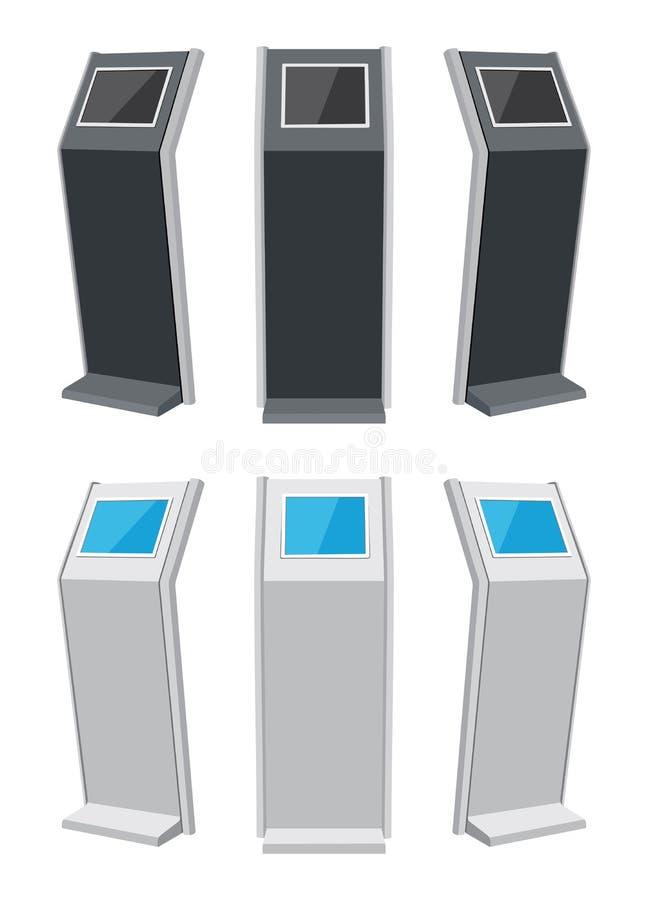 Soporte de la pantalla táctil ilustración del vector