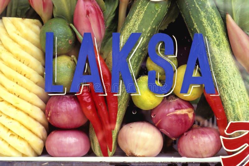 Soporte de la sopa de Laksa imágenes de archivo libres de regalías