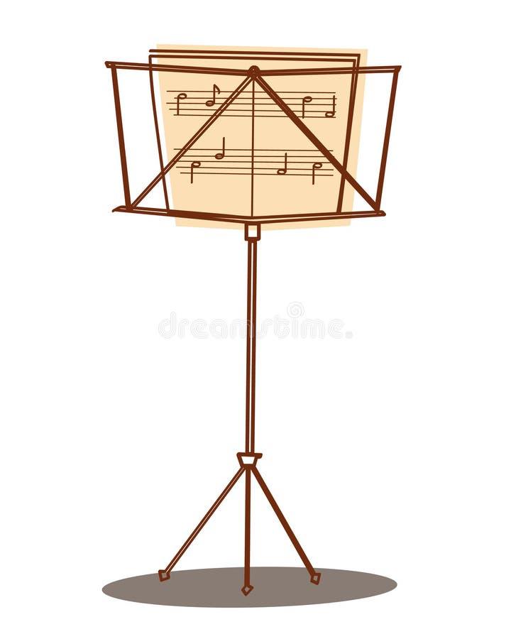 Soporte de música stock de ilustración