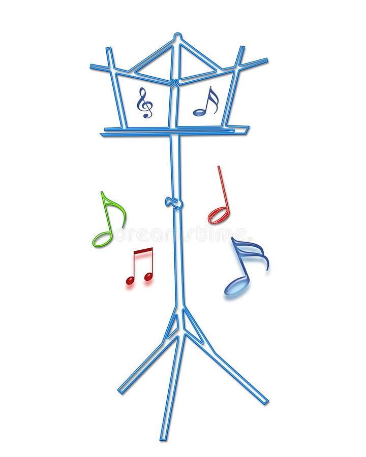 Soporte de música ilustración del vector