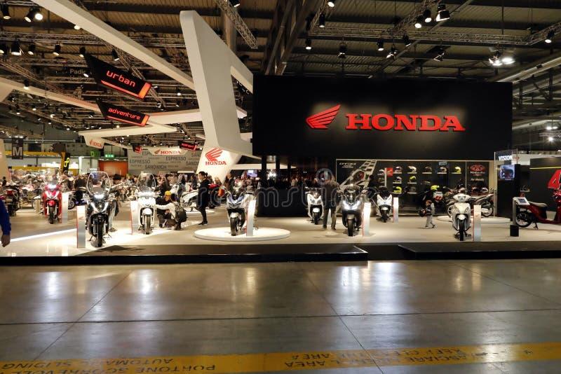Soporte 2016 del motobike de Honda foto de archivo libre de regalías