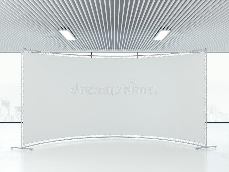 Soporte en blanco blanco de la publicidad en la oficina representación 3d ilustración del vector