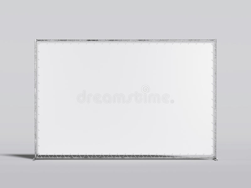 Soporte en blanco blanco de la publicidad representación 3d stock de ilustración