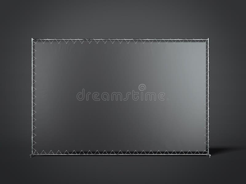 Soporte en blanco negro de la publicidad representación 3d libre illustration
