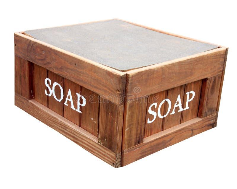 Soporte en su Soapbox imágenes de archivo libres de regalías