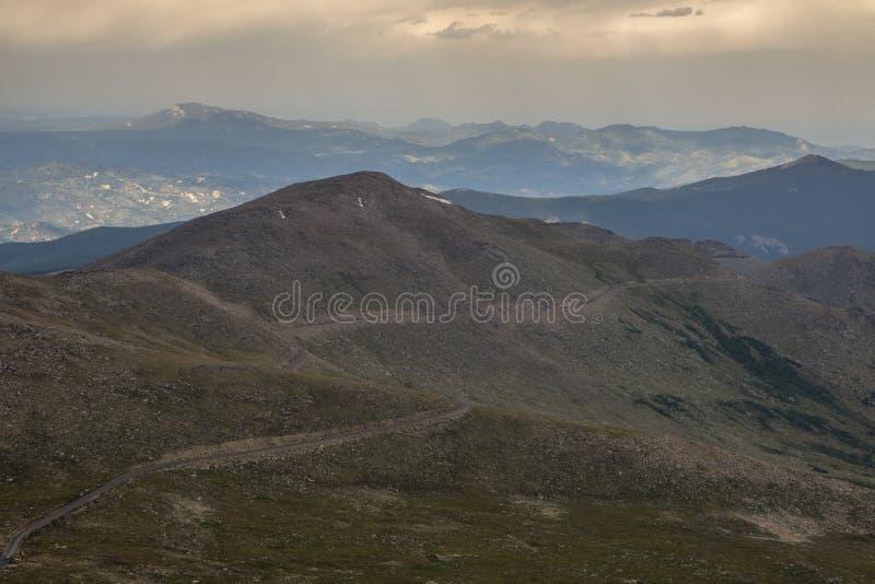 Soporte Evans Road - Colorado imágenes de archivo libres de regalías