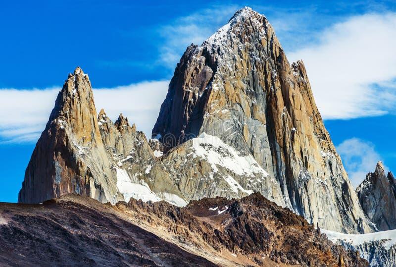 Soporte Fitz Roy en el parque nacional del Los Glaciares en la Argentina foto de archivo