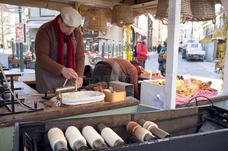Soporte gastronómico en Praga imagen de archivo libre de regalías