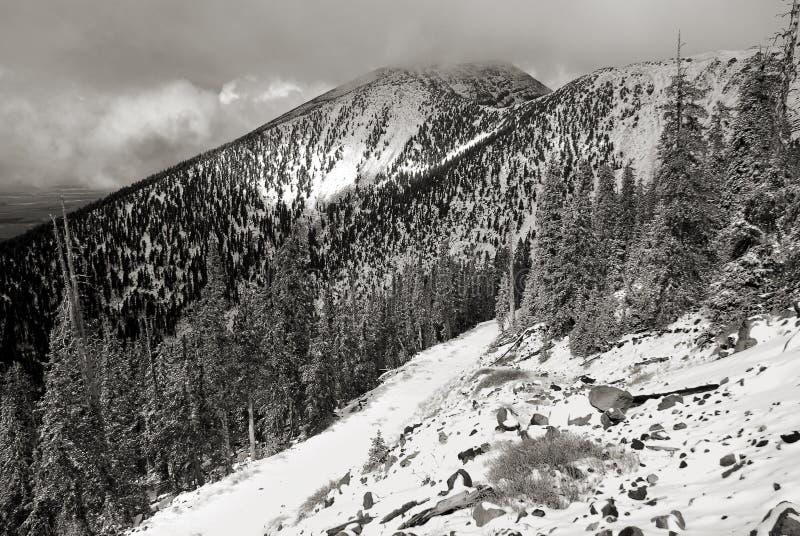 Soporte Humphrey cubierto en nieve fotos de archivo libres de regalías