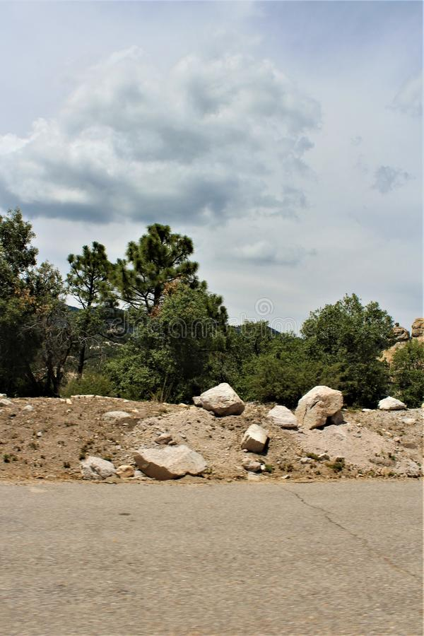 Soporte Lemmon, Santa Catalina Mountains, bosque del Estado de Coronado, Tucson, Arizona, Estados Unidos imagen de archivo libre de regalías