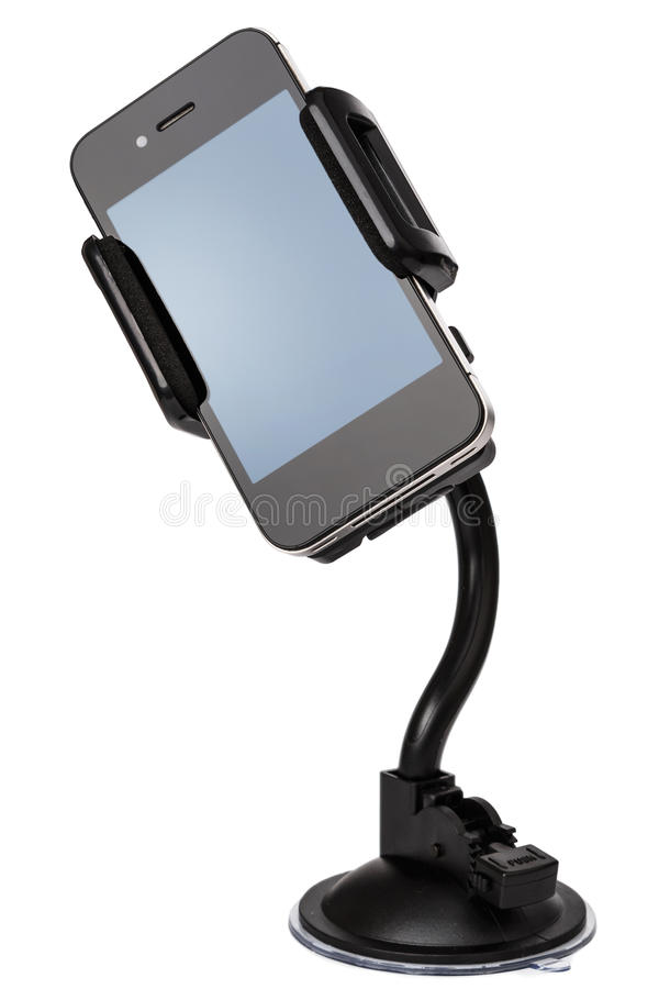 Soporte para coche para el dispositivo móvil fotografía de archivo libre de regalías