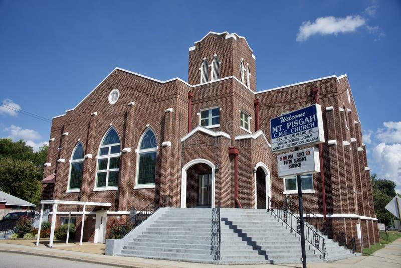 Soporte Pisgah C M Iglesia de E en el montón anaranjado, Memphis, TN fotografía de archivo libre de regalías