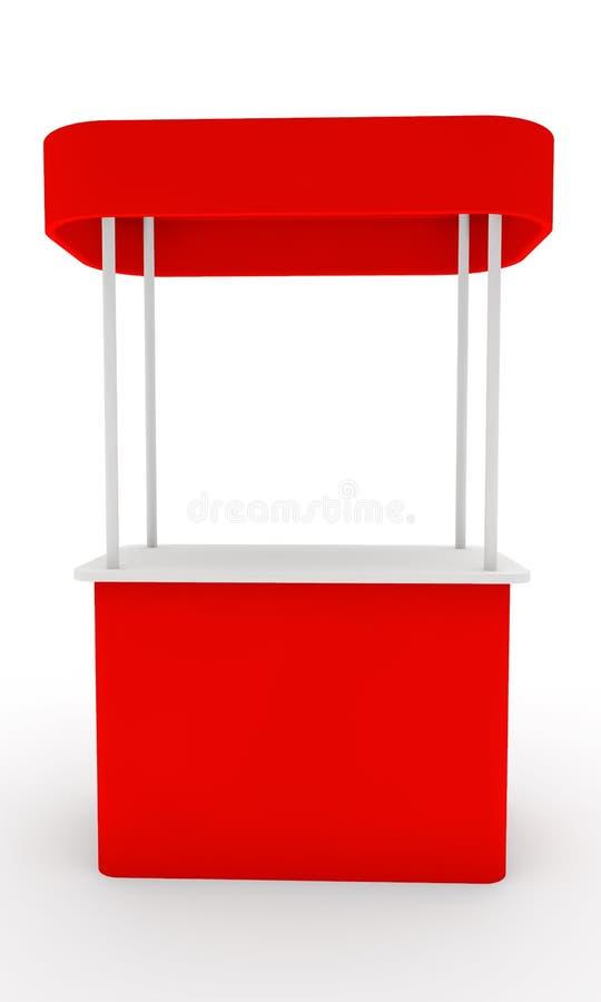 Soporte rojo ilustración del vector