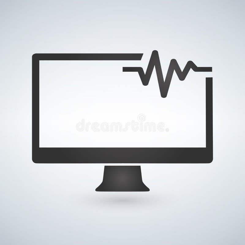 soporte técnico, soporte informático y diagnóstico Ejemplo del vector aislado en fondo moderno libre illustration