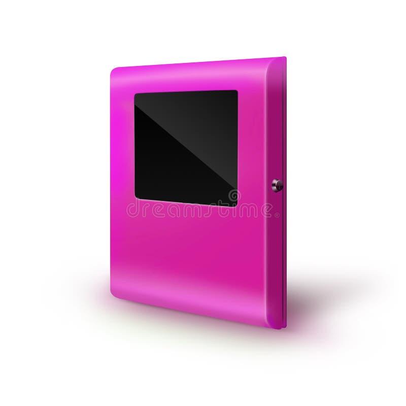 Soporte terminal interactivo del quiosco de información imagen de archivo