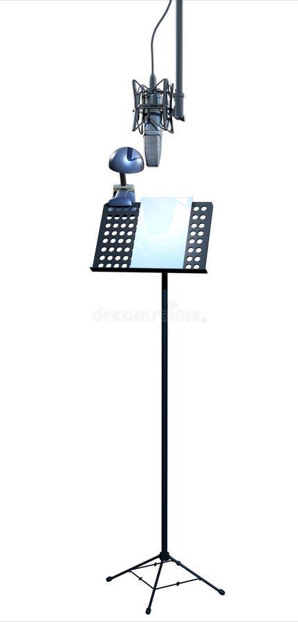 Soporte y micrófono de música ilustración del vector
