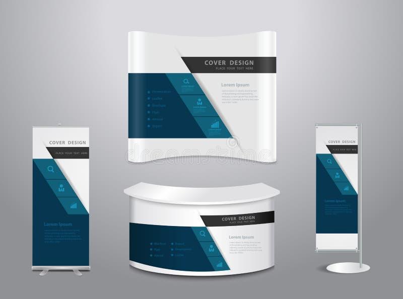 Soportes de la exposición del vector stock de ilustración