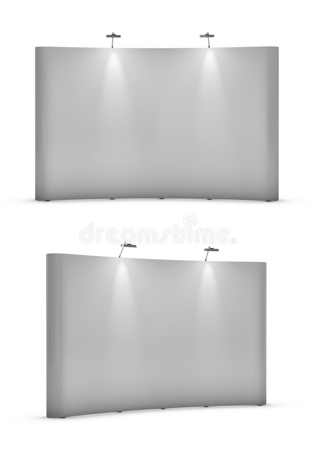 Soportes en blanco grandes de la exposición stock de ilustración