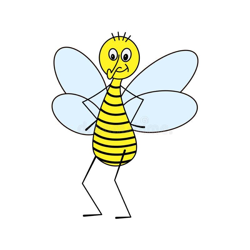 Soportes rayados amarillos y sonrisas de una mosca libre illustration