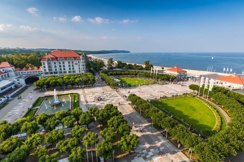 Sopot, Polônia-setembro 7,2016: Vista da cidade de Sopot no Polônia foto de stock