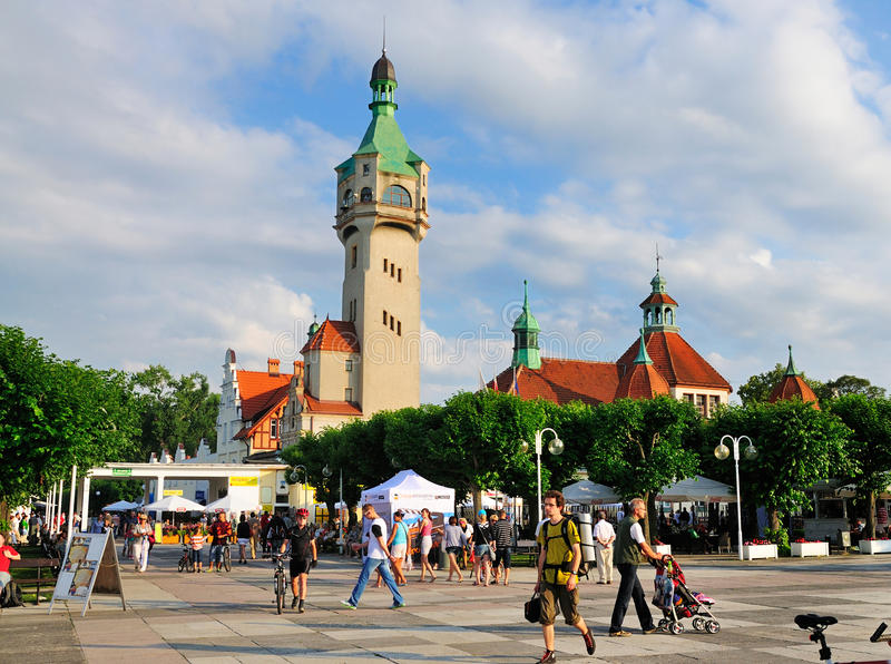 Sopot, Poland. Central square in the town of Sopot, Poland. The town is situated near Gdansk and is a renowned beachside resort royalty free stock photography