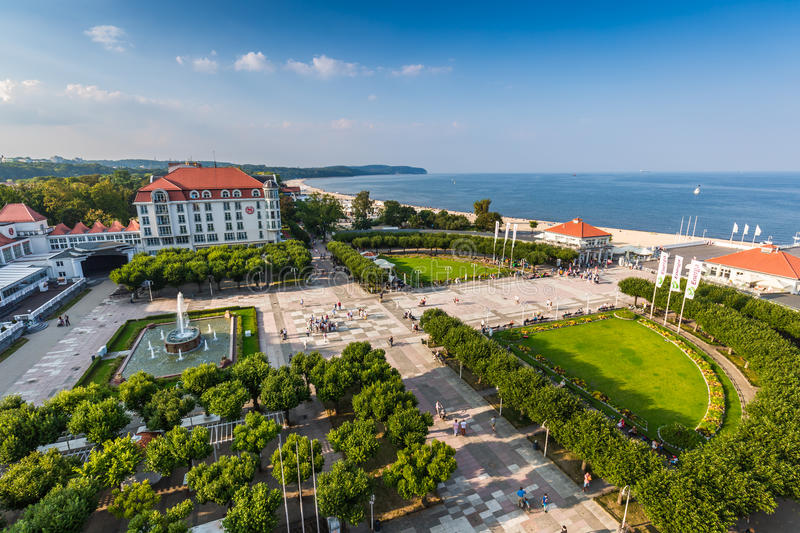 Sopot,Poland-September 7,2016: View of the Sopot City in Poland. Sopot,Poland-September 7,2016:View of the Sopot City in Poland stock photo