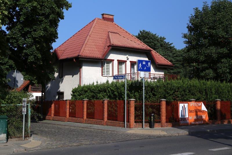Sopot. Polen. Das lebende Haus für Miete lizenzfreies stockbild