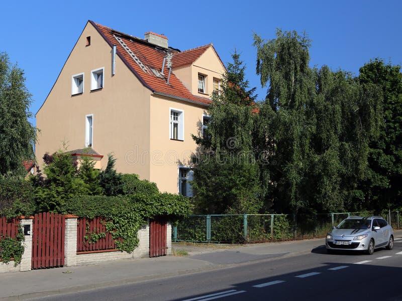Sopot. Polen. Das lebende Haus für Miete lizenzfreie stockfotografie
