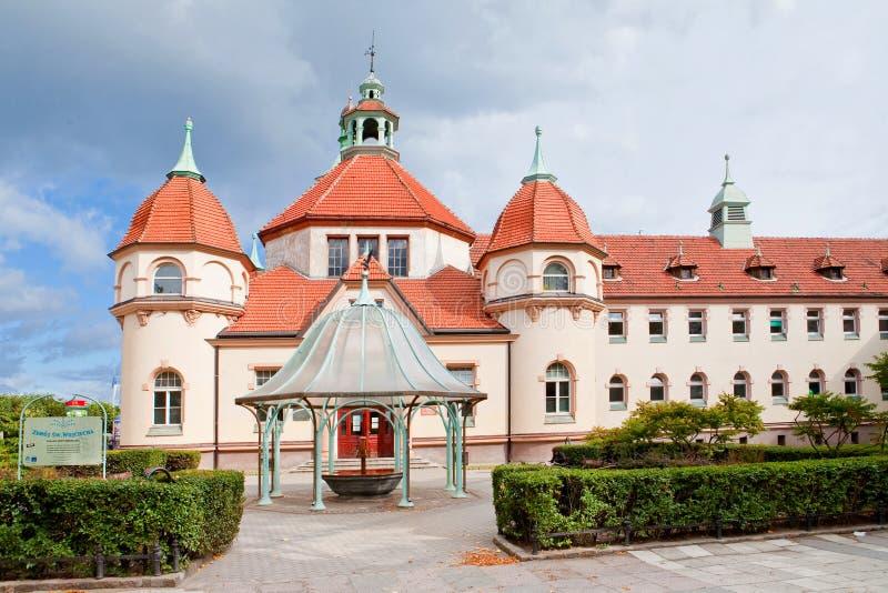Sopot, Polska, 2009 09 24 - stary historyczny budynek balneolgic zdjęcia stock