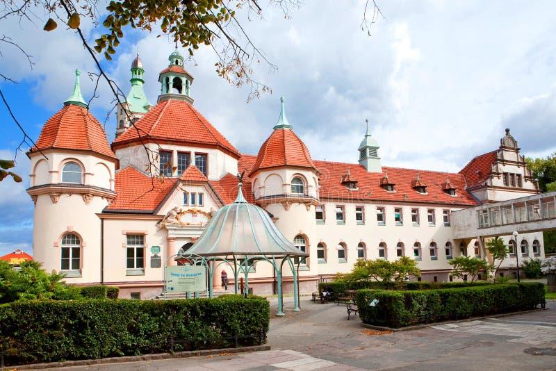 Sopot, Polska, 2009 09 24 - stary historyczny budynek balneolgic obraz royalty free