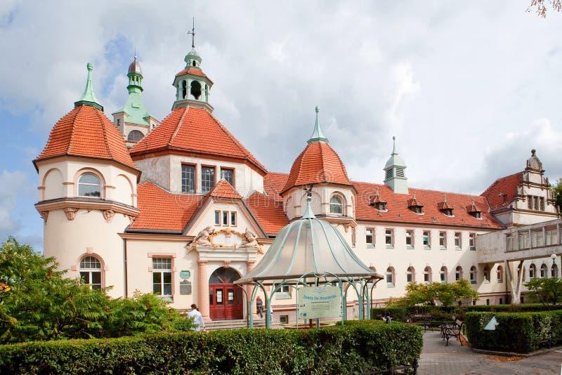 Sopot, Polska, 2009 09 24 - stary historyczny budynek balneolgic obraz stock