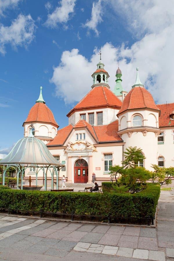Sopot, Polska, 2009 09 24 - stary historyczny budynek balneolgic obrazy royalty free