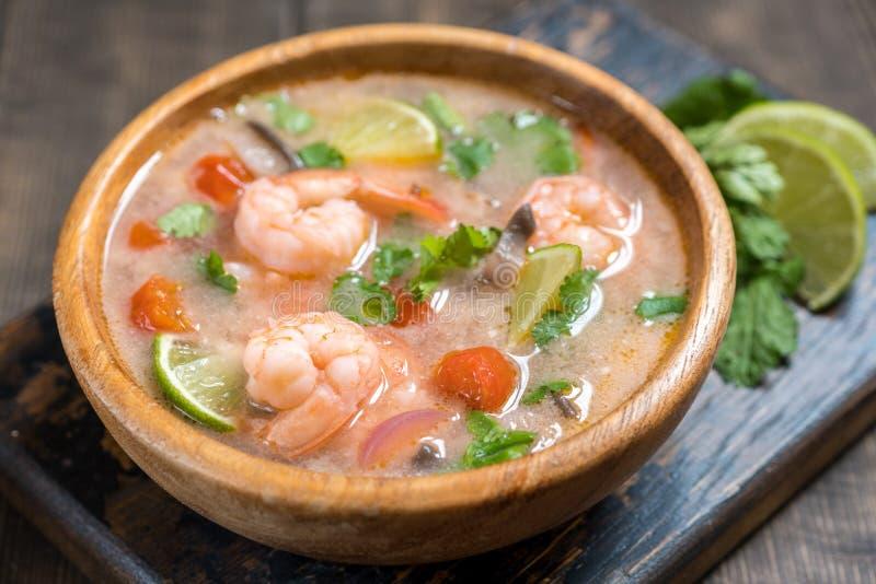 Soppa för Tom sötpotatiskong thai mat royaltyfria bilder