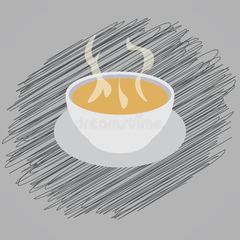 soppa klottrar royaltyfri illustrationer