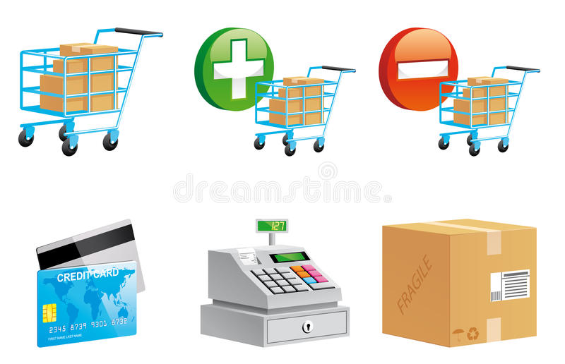 Download Sopping Online Icons Royalty Free Stock Images - Image: 18491969