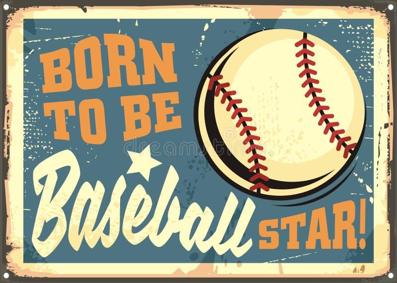Sopportato essere messaggio motivazionale della stella di baseball royalty illustrazione gratis