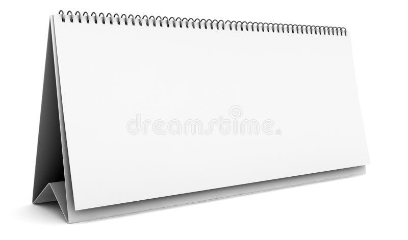 Soppressione il calendario da tavolino isolato su bianco illustrazione vettoriale