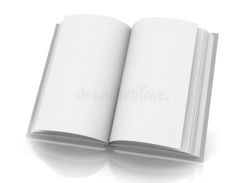 Soppressione il libro aperto illustrazione di stock