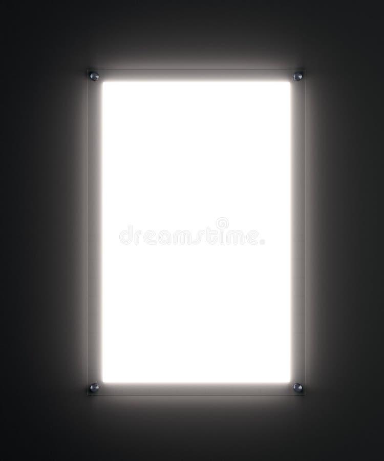 Soppressione il modello bianco illuminato del manifesto fotografia stock libera da diritti