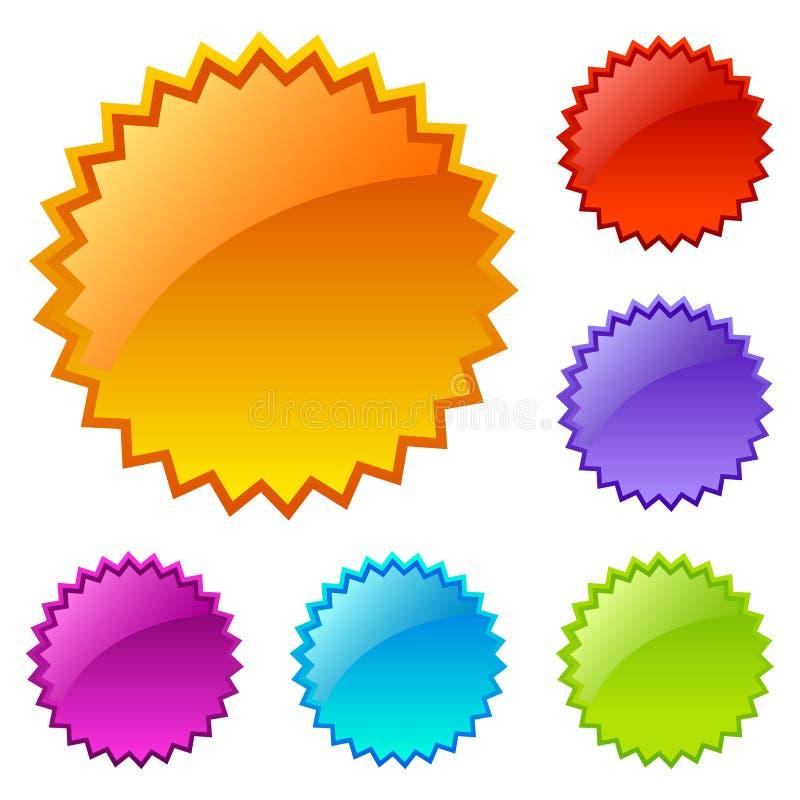 Soppressione le icone colorate di Web illustrazione vettoriale