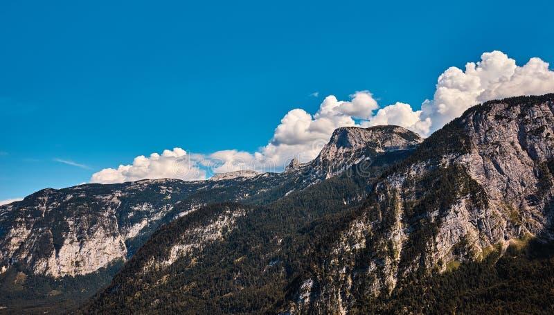 Sopra coperta dalle alpi sopra Pasterze fotografia stock
